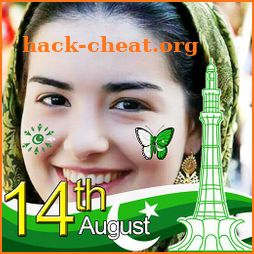 14 August Photo Frame Maker - Pakistan Flag Face icon