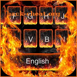 3D Burning Flaming Fire Keyboard icon