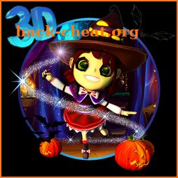 3D Cute Magic Witch Theme icon