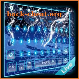 3D Live Heavy Rain Storm Keyboard Theme icon