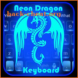 3D Neon Dragon Keyboard Theme icon