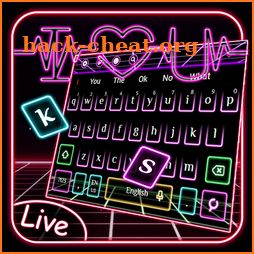 3D Neon Live Hearbeat Keyboard Theme icon