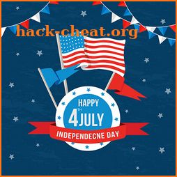 4th of July Independence Day 2018 icon