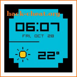 8-Bit Pixel Weather Watch Face icon