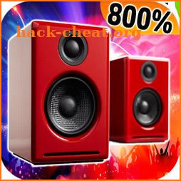 800  sound booster -volume booster -( max booster) icon