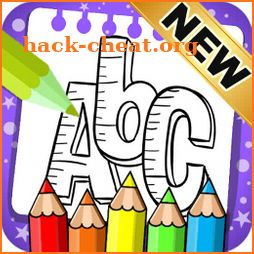 ABC Coloring Pages - Abc coloring book Games icon