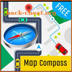 Accurate compass digital: On Map compass tool icon