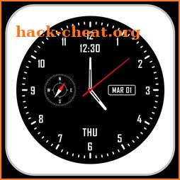 Analog clock & watch face live wallpaper icon