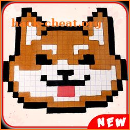 Animals Cute Pixel Art Color by Number Pixel book icon