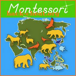 Animals of Asia - Montessori Geography icon