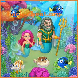 Aquarium Farm: fish town, Mermaid love story shark icon