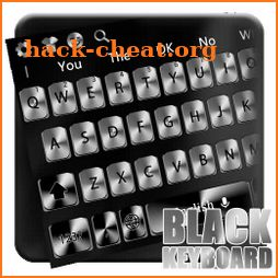 Black and white classic metal keyboard theme icon
