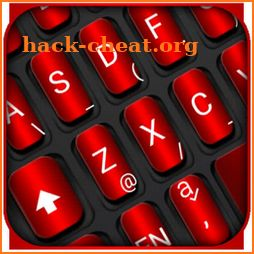 Black Red Texture Keyboard Theme icon