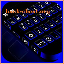 Blue Black Keyboard Theme icon