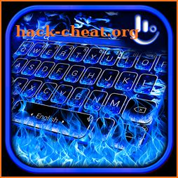 Blue Flame Fire Keyboard Theme icon