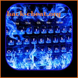 Blue Flame Keyboard icon
