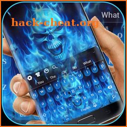 Blue Flame Skull Keyboard icon