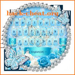 Blue Glitter Diamond Butterfly keyboard Theme icon