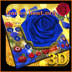 Blue Rose 3D Keyboard icon
