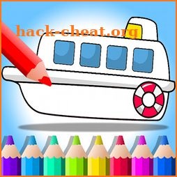 Boat Paint vs Draw - Kids Coloring Book icon