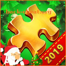 Christmas jigsaw puzzle icon