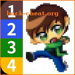 Color by Number - Ben 10 Pixel Art icon