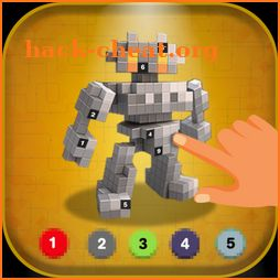Color by Number: Robot Draw by Pixels icon