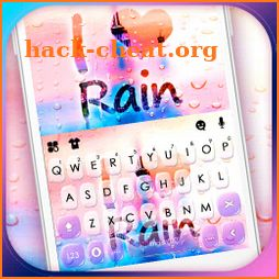 Color Raindrops Keyboard Theme icon