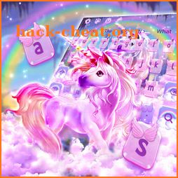 Colorful Rainbow Unicorn Keyboard Theme icon