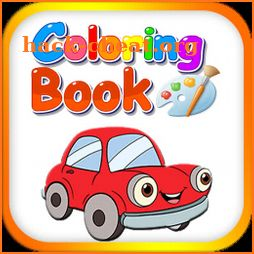 Coloring book for kids learning icon