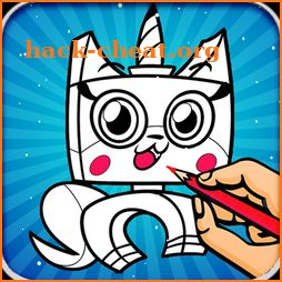 Coloring Book for Unikitty icon