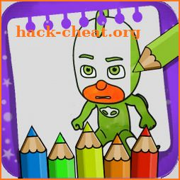 coloring pages for PJ heroes masks: coloring book icon