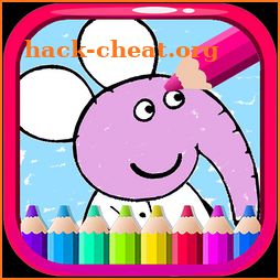 Coloring Pepa Book Cartoon Art - Painting Game icon
