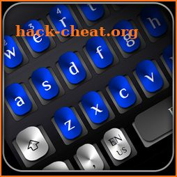Cool Blue Metal Keyboard icon