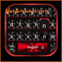 Cool Red Black Keyboard icon