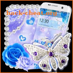 Crystal Diamond Butterfly Theme icon