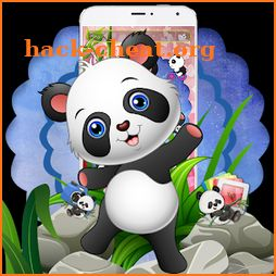🐼🐼🐼Cute Baby Panda Theme icon