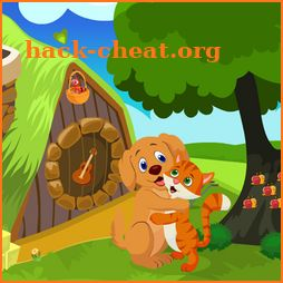 Cute Dog And Cat Embracing Best Escape Game-376 icon
