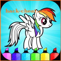 Cute Little Pony Coloring Book icon