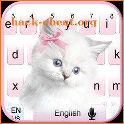 Cute Pink Kitty cat Keyboard icon