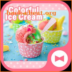 Cute Wallpaper Colorful Ice Cream Theme icon