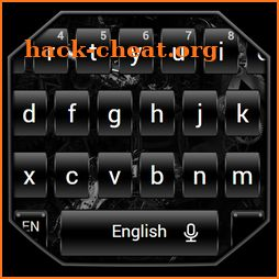 Dark Black Metal Keyboard Theme icon
