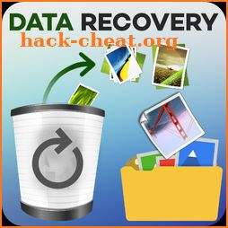 Data recovery for media files – storage recovery icon