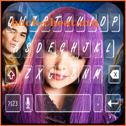 Descendants keyboard  (wallpapers and backgrounds) icon