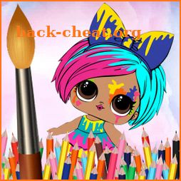 Dolls Coloring Book For kids icon