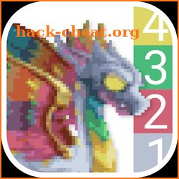 Dragon Coloring Pages, Dragon Color By Number icon