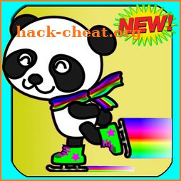 Draw & Coloring magic panda animal-color by number icon