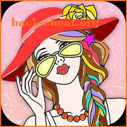 Fashion Girls Coloring Pages: Dress Up Salon icon