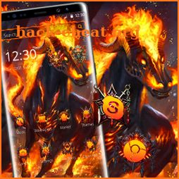 Fire Black Horror Horse Theme icon