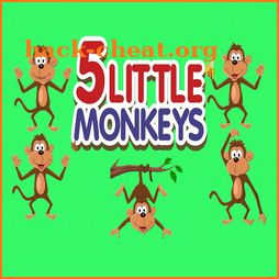 five little monkeys kids favorite rhyme song icon